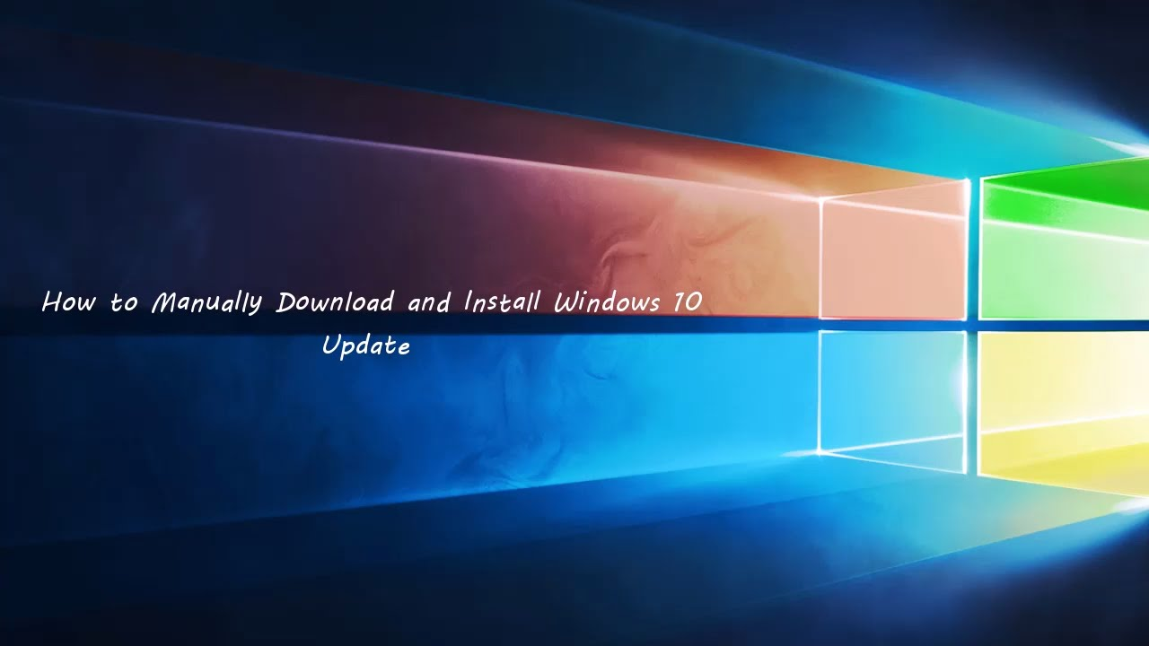 download updates for windows 10 manually