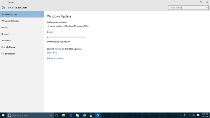 how to download windows 10 anniversary update manually