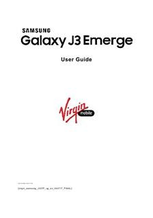 printed manual for samsung galaxy j3 6v smartphone