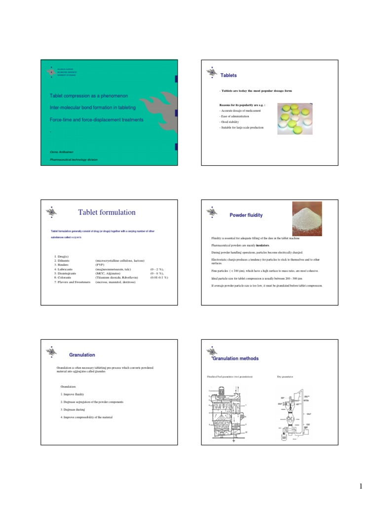 tableting specification manual free download
